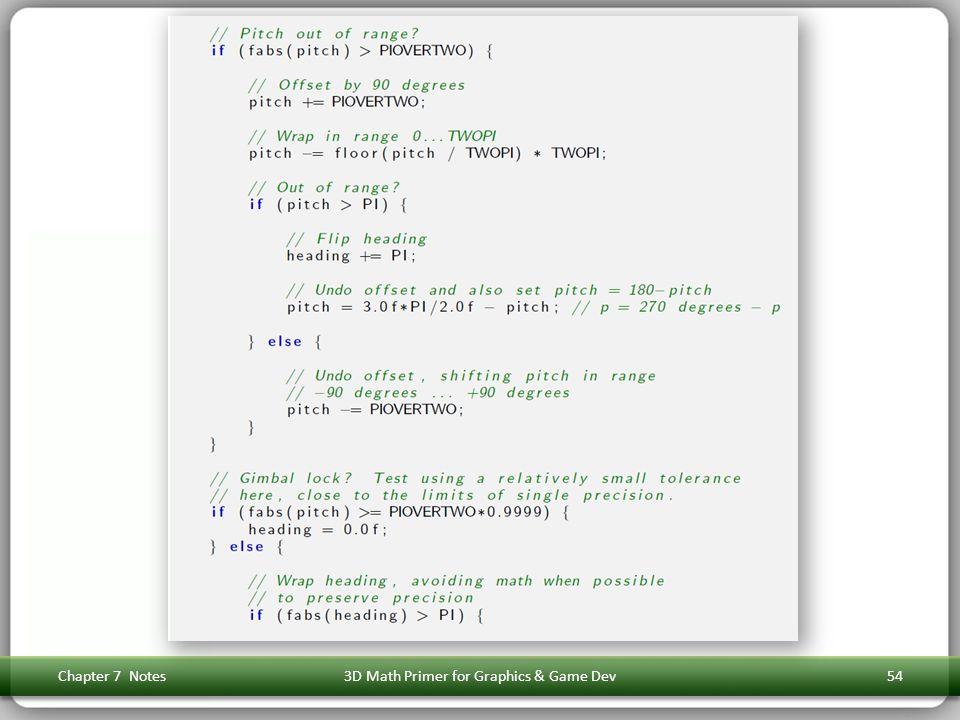 Chapter 7 Notes3D Math Primer for Graphics & Game Dev54