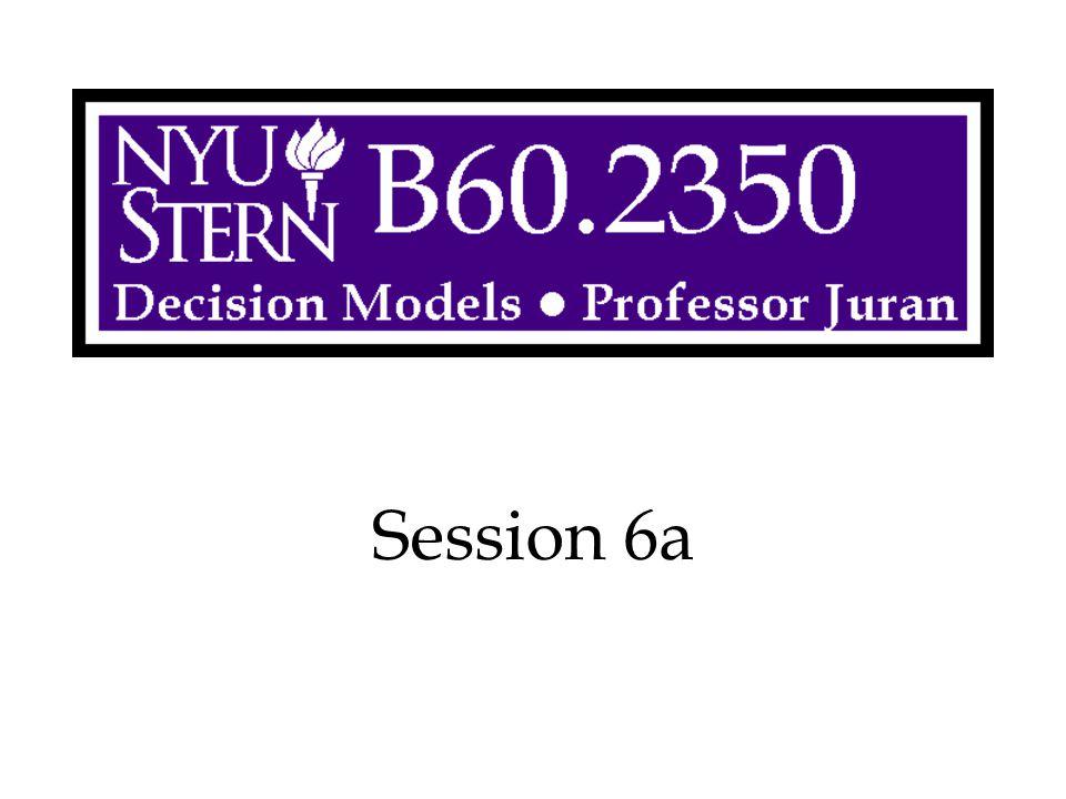 Decision Models -- Prof. Juran32