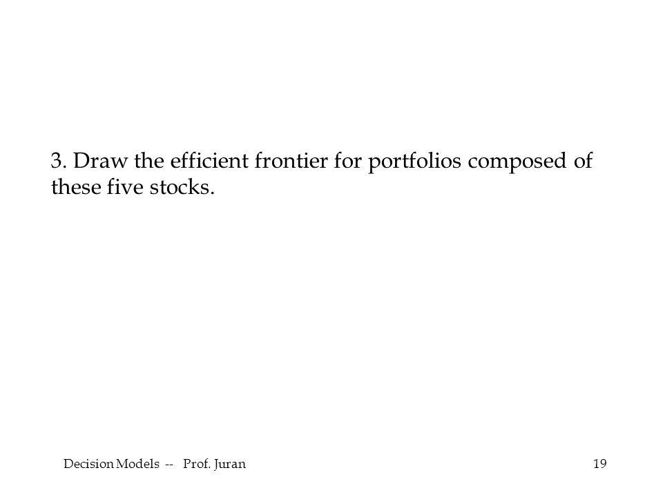 Decision Models -- Prof. Juran19 3.