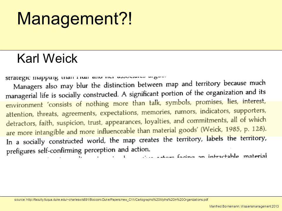 Manfred Bornemann: Wissensmanagement 2013 Management?.