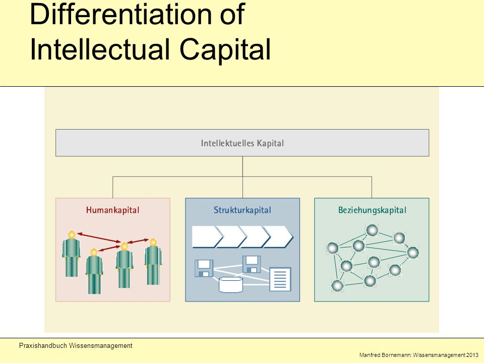 Manfred Bornemann: Wissensmanagement 2013 Praxishandbuch Wissensmanagement Differentiation of Intellectual Capital