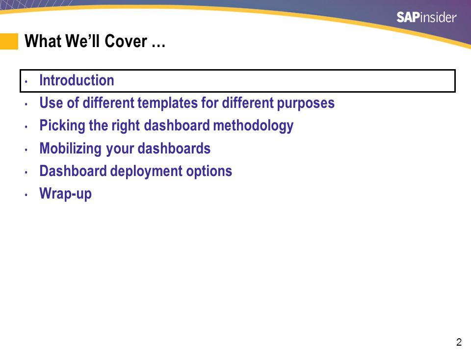 33 Framework for Picking a Dashboard Methodology I.e. Scrum and Agile