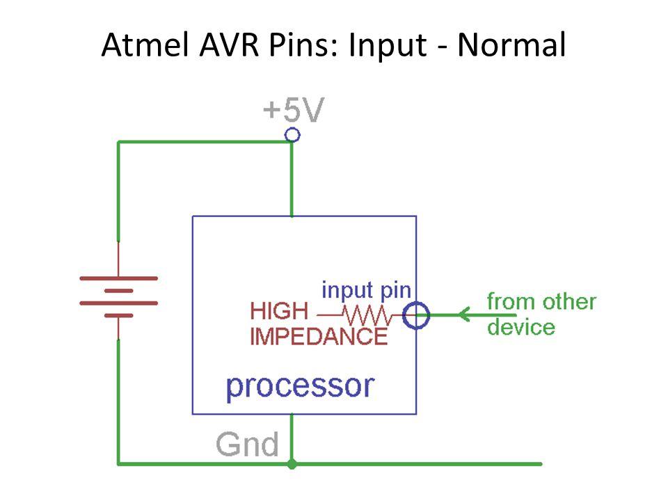 Atmel AVR Pins: Input - Normal