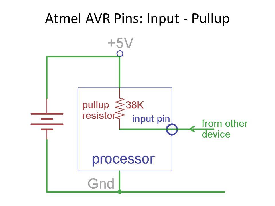 Atmel AVR Pins: Input - Pullup