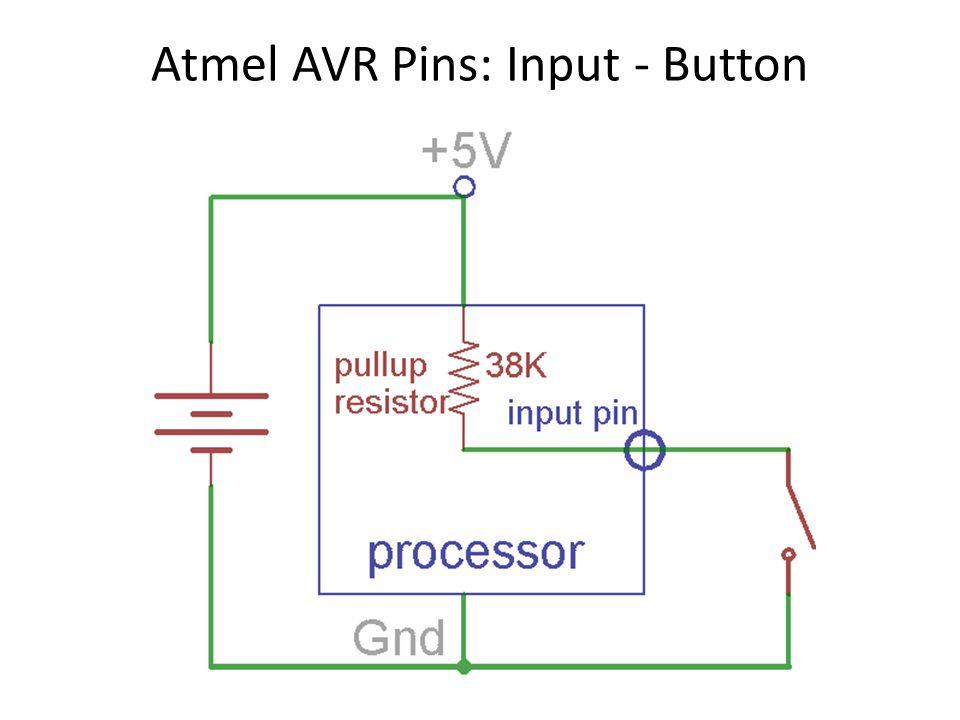 Atmel AVR Pins: Input - Button