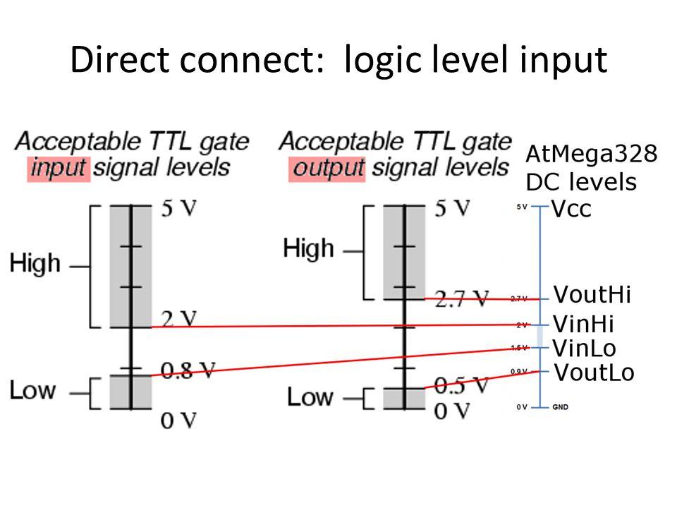 Direct connect: logic level input