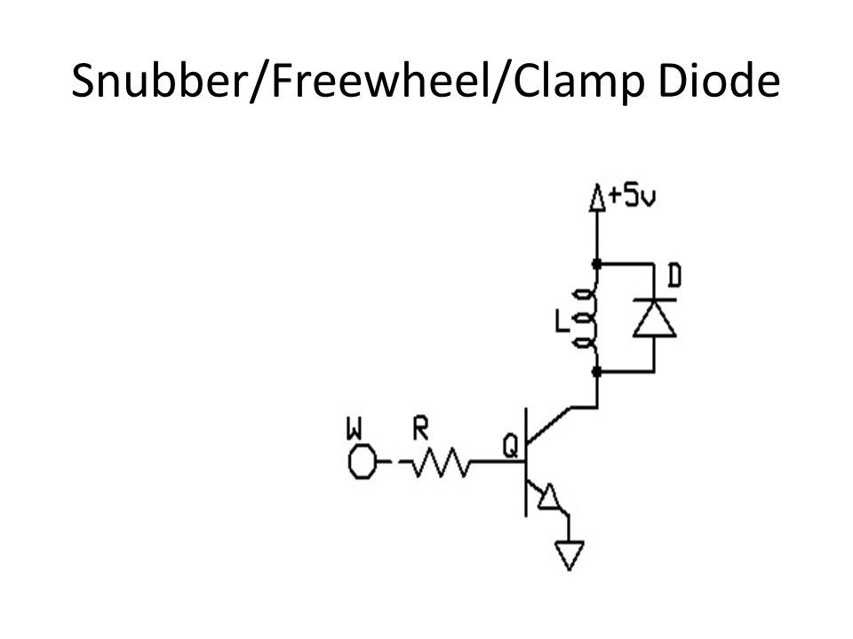 Snubber/Freewheel/Clamp Diode