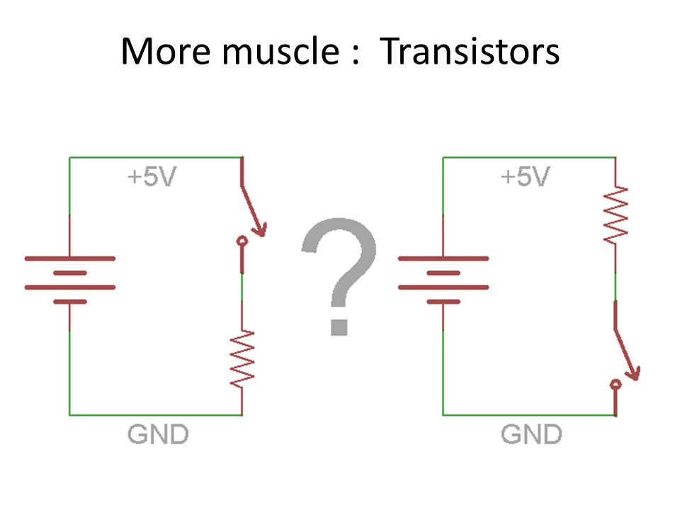 More muscle : Transistors