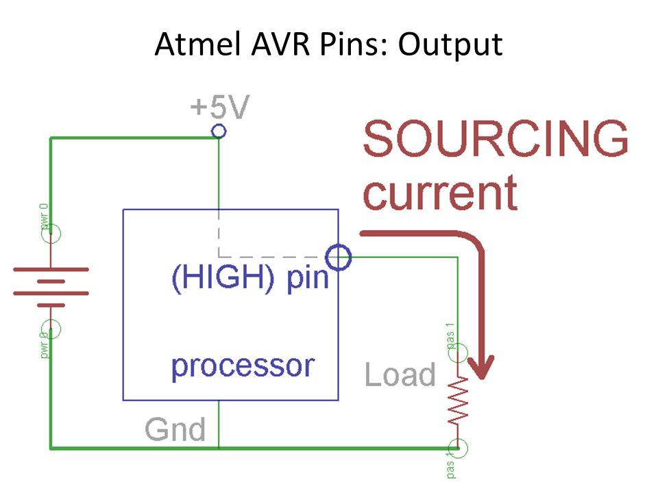 Atmel AVR Pins: Output