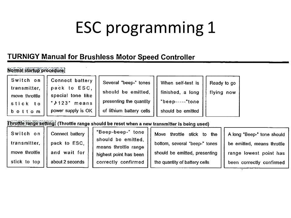 ESC programming 1