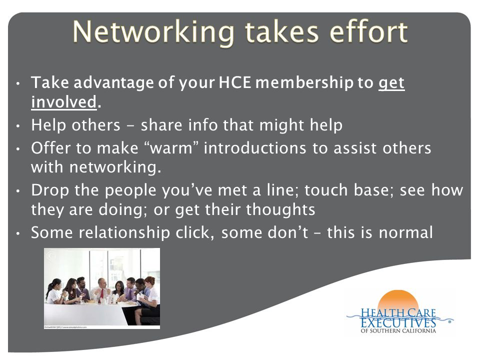 Take advantage of your HCE membership to get involved.