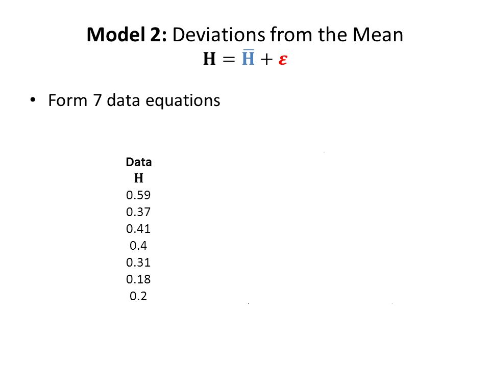 ==== = = = = = = = ∑ Form 7 data equations
