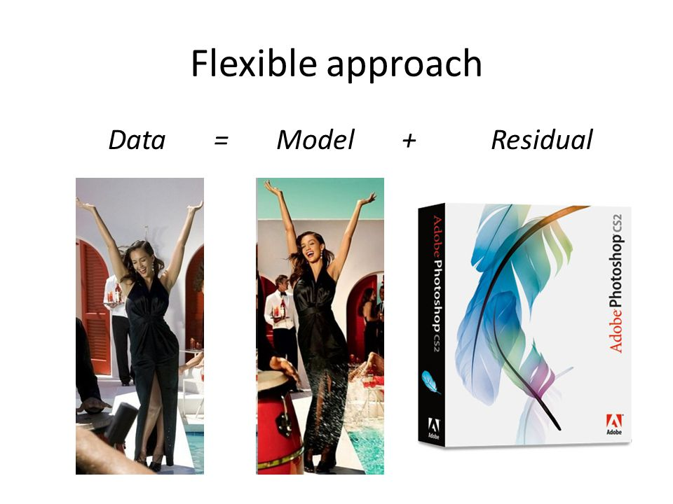 Flexible approach Data = Model + Residual