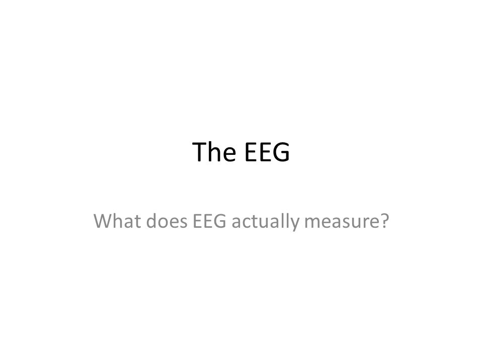 The EEG What does EEG actually measure?
