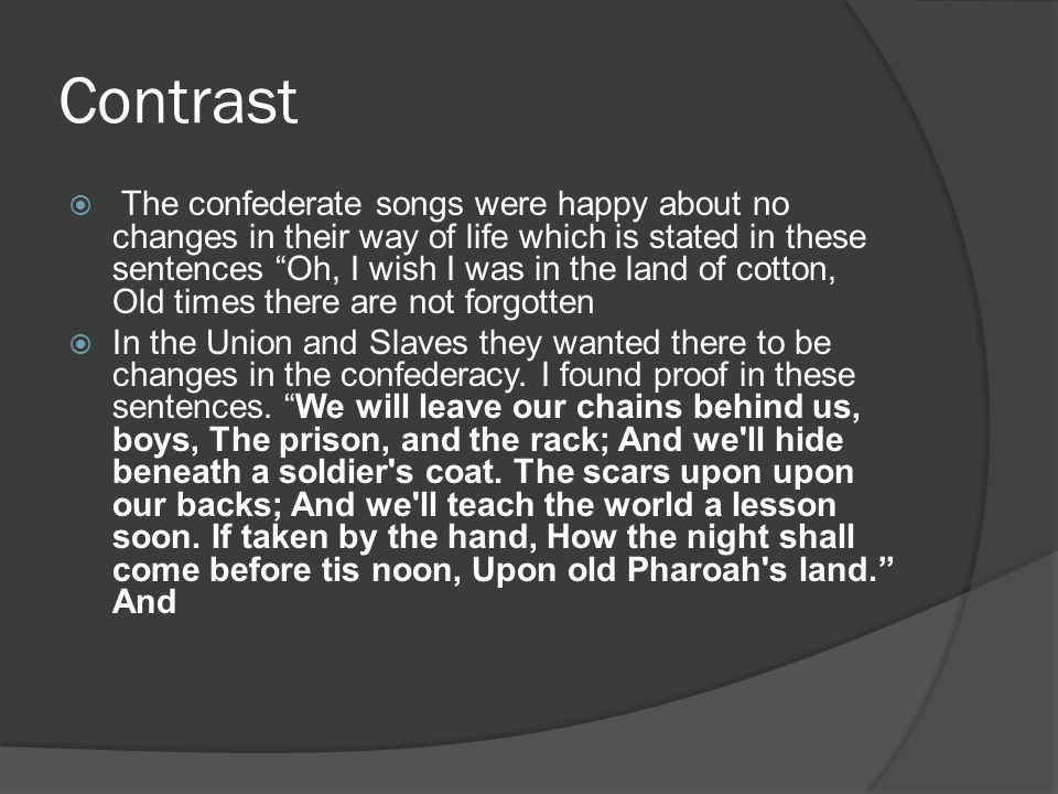 Comparisons  I think that all of the songs state hope.