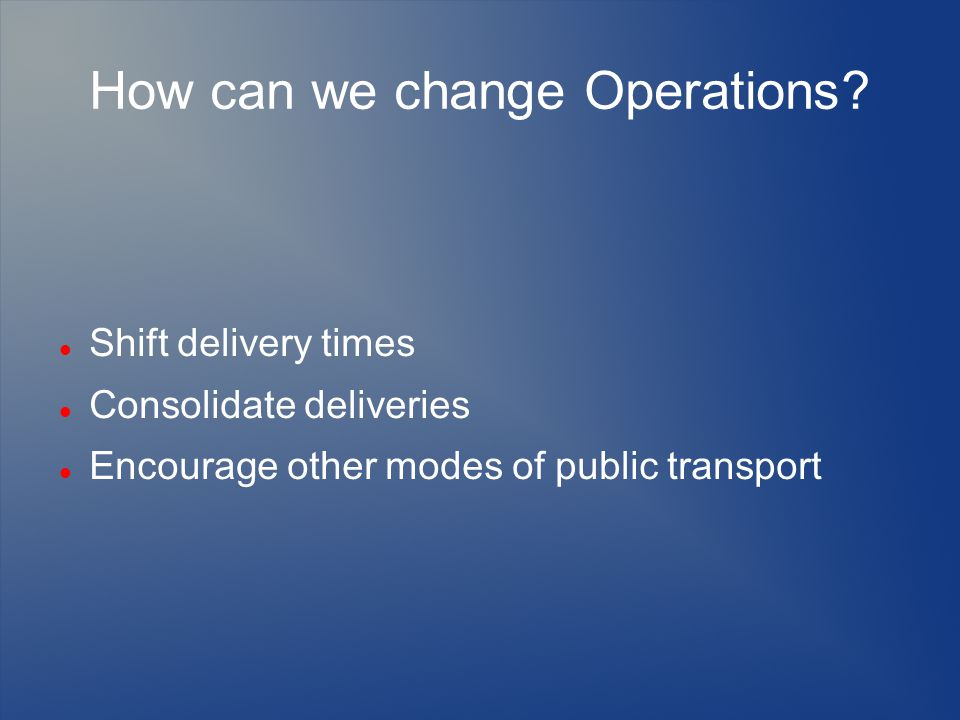 How can we change Operations.