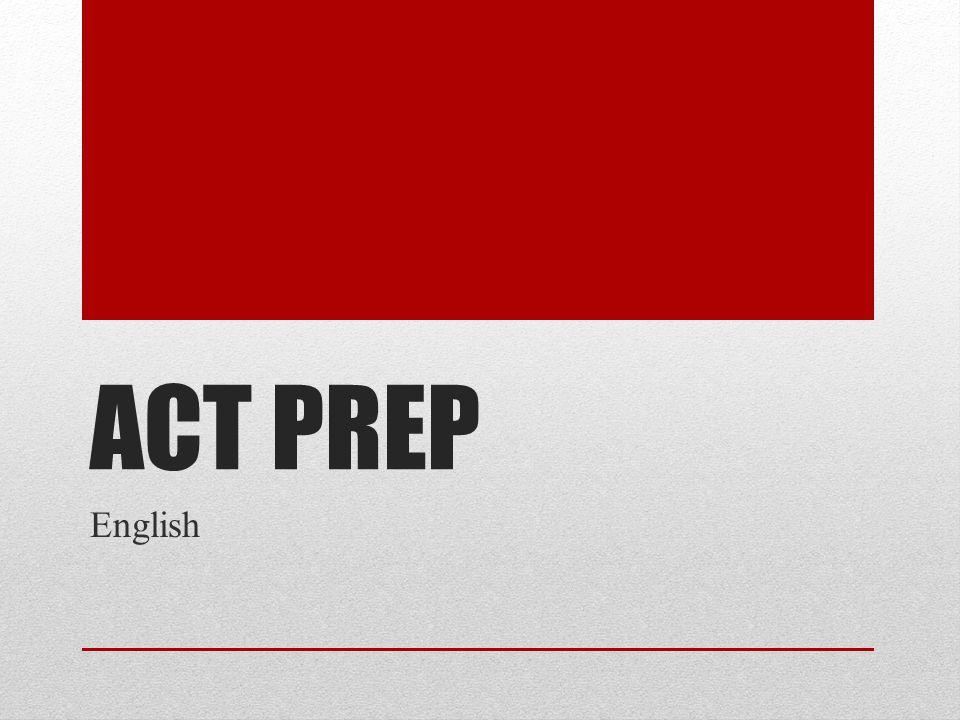 ACT PREP English