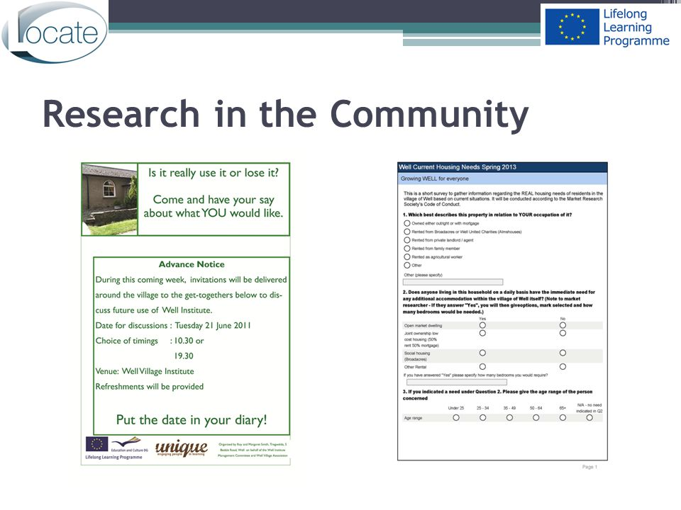 Research in the Community