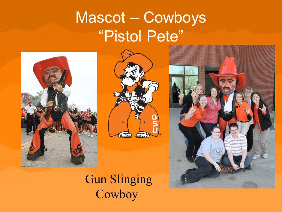 "Mascot – Cowboys ""Pistol Pete"" Gun Slinging Cowboy"
