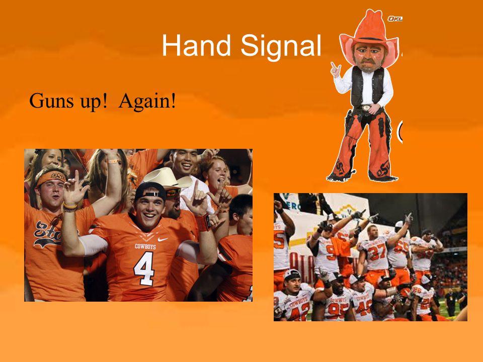 Hand Signal Guns up! Again!
