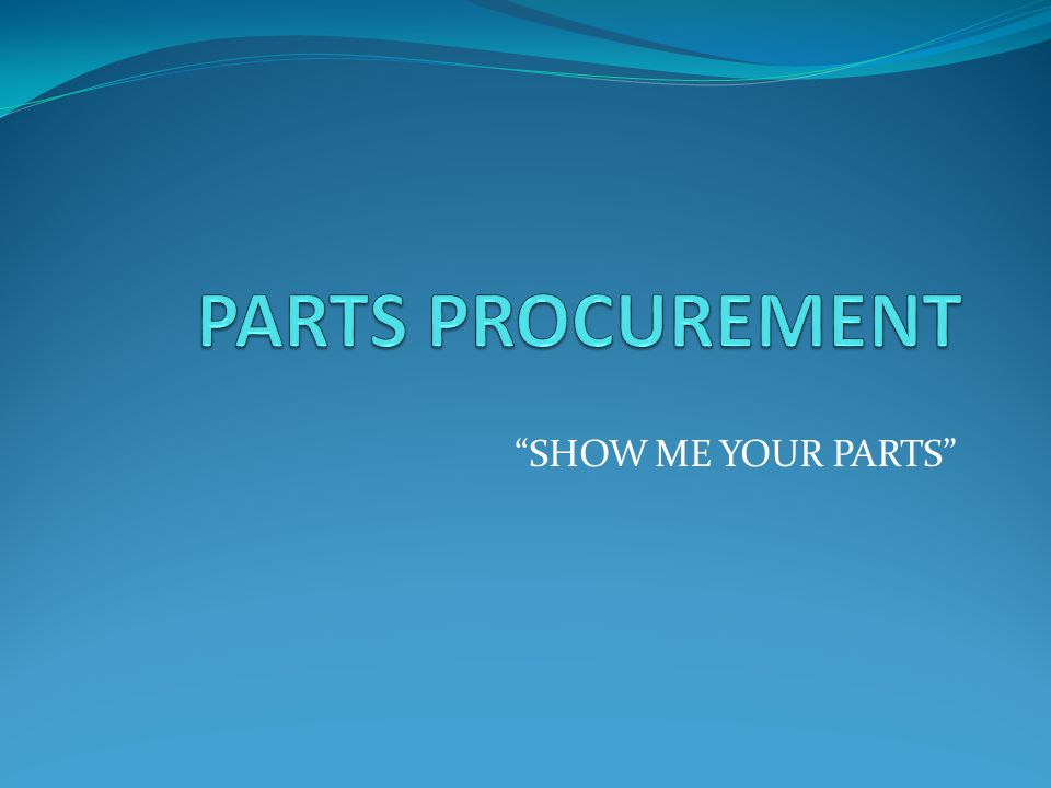 The Objective: To increase the overall efficiency of how parts are processed in your collision repair center.