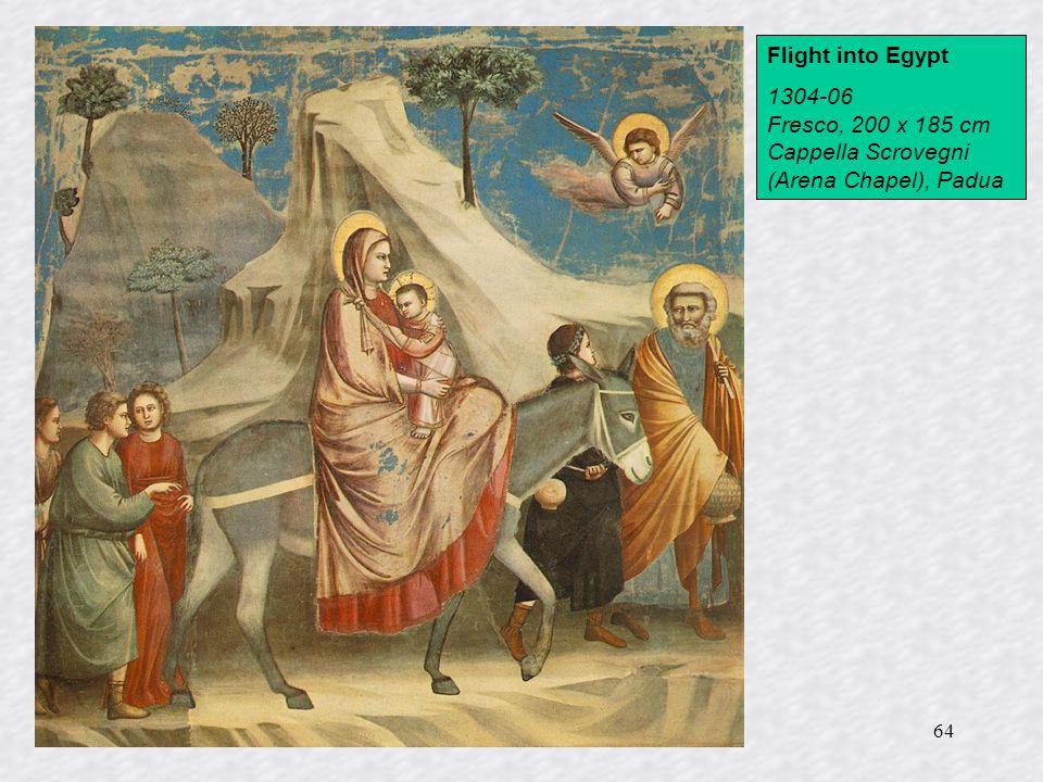 64 Flight into Egypt 1304-06 Fresco, 200 x 185 cm Cappella Scrovegni (Arena Chapel), Padua