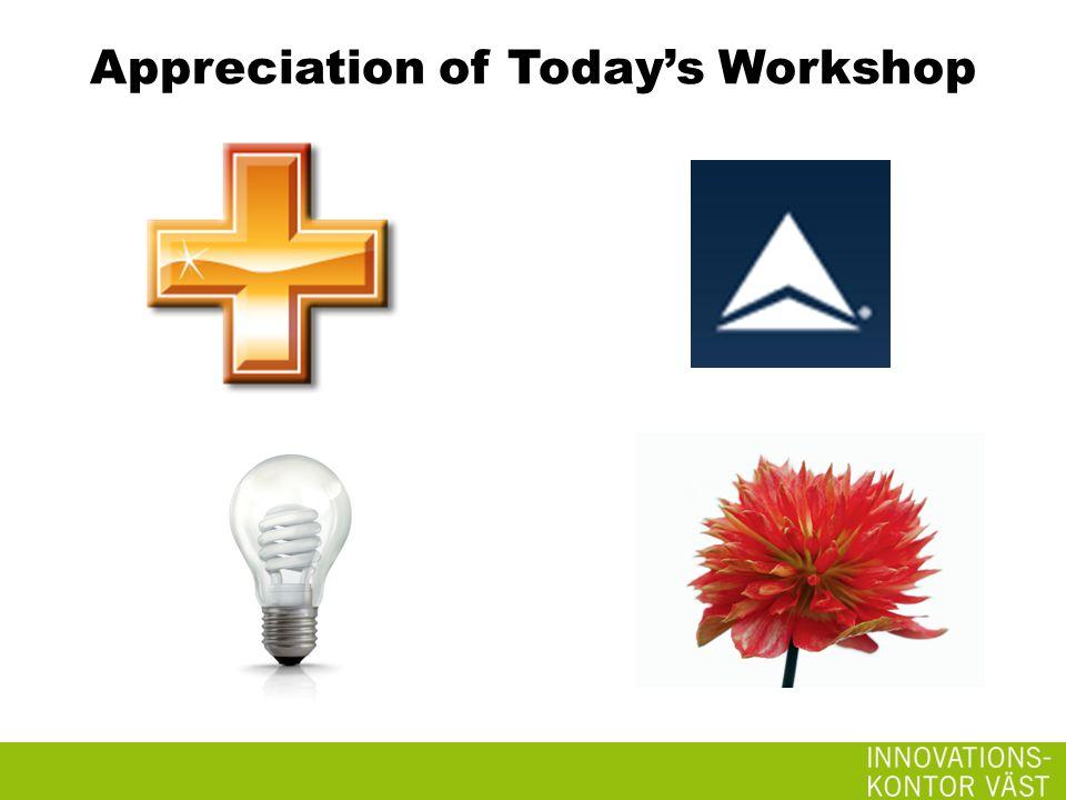 Appreciation of Today's Workshop