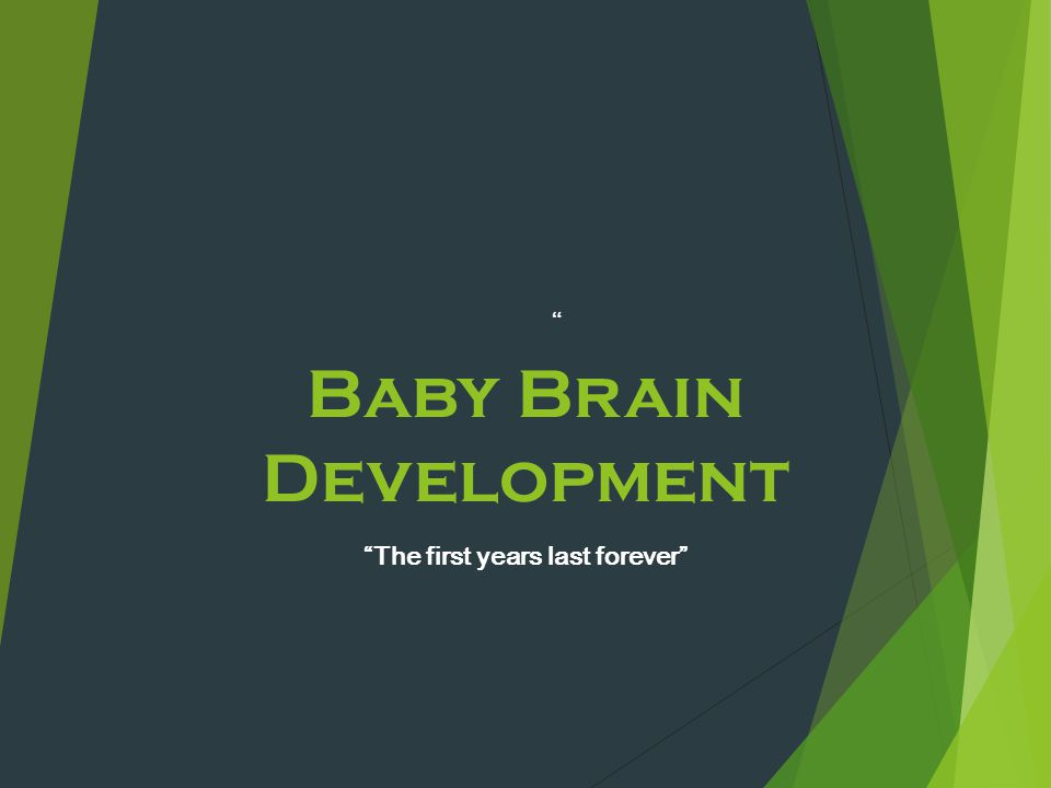 """Baby Brain Development """"The first years last forever"""" """""""