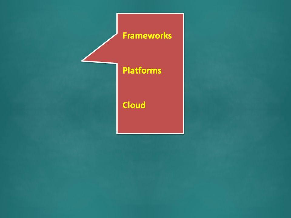 Frameworks Blah blah blah Platforms blah Blah blah Cloud blah Frameworks Cloud Platforms