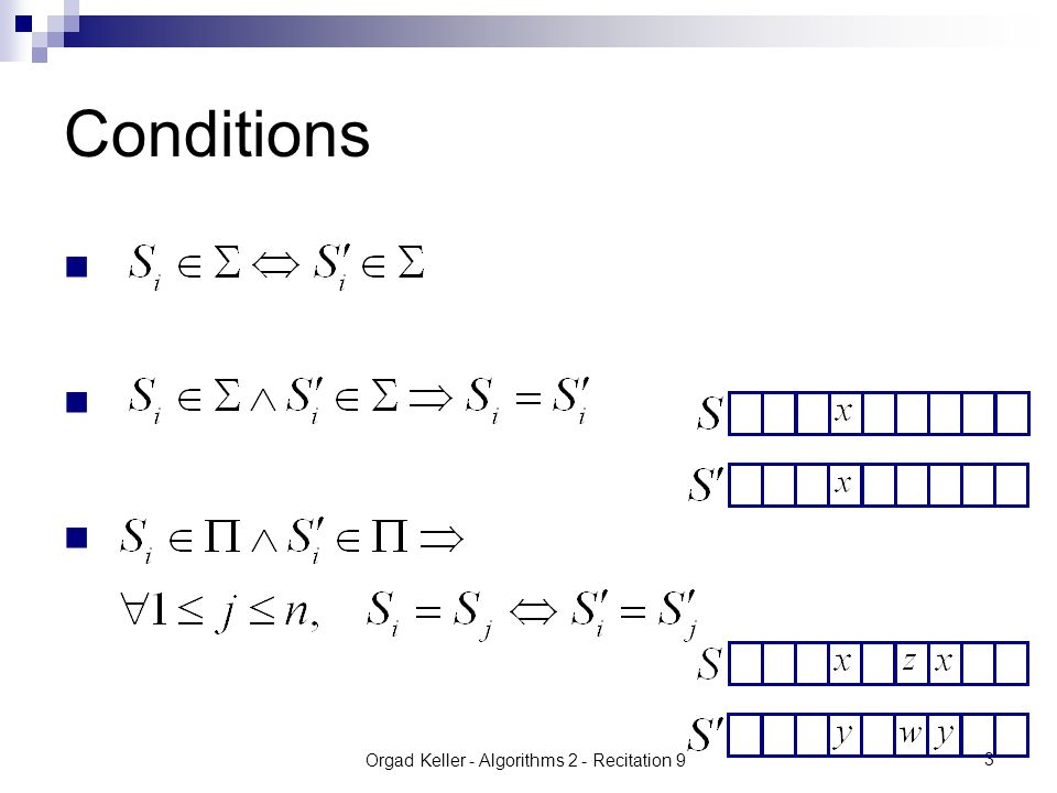 Orgad Keller - Algorithms 2 - Recitation 9 4 We can see it as a bijection : Example