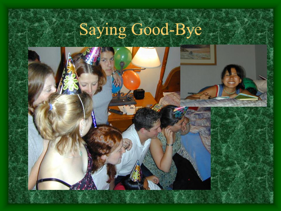 Saying Good-Bye