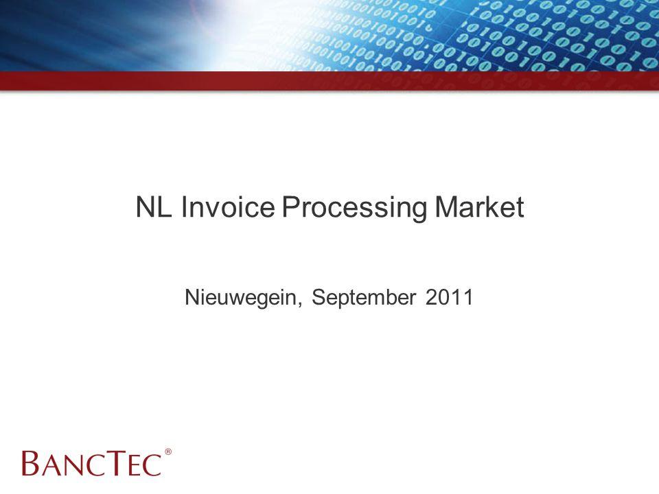 NL Invoice Processing Market Nieuwegein, September 2011