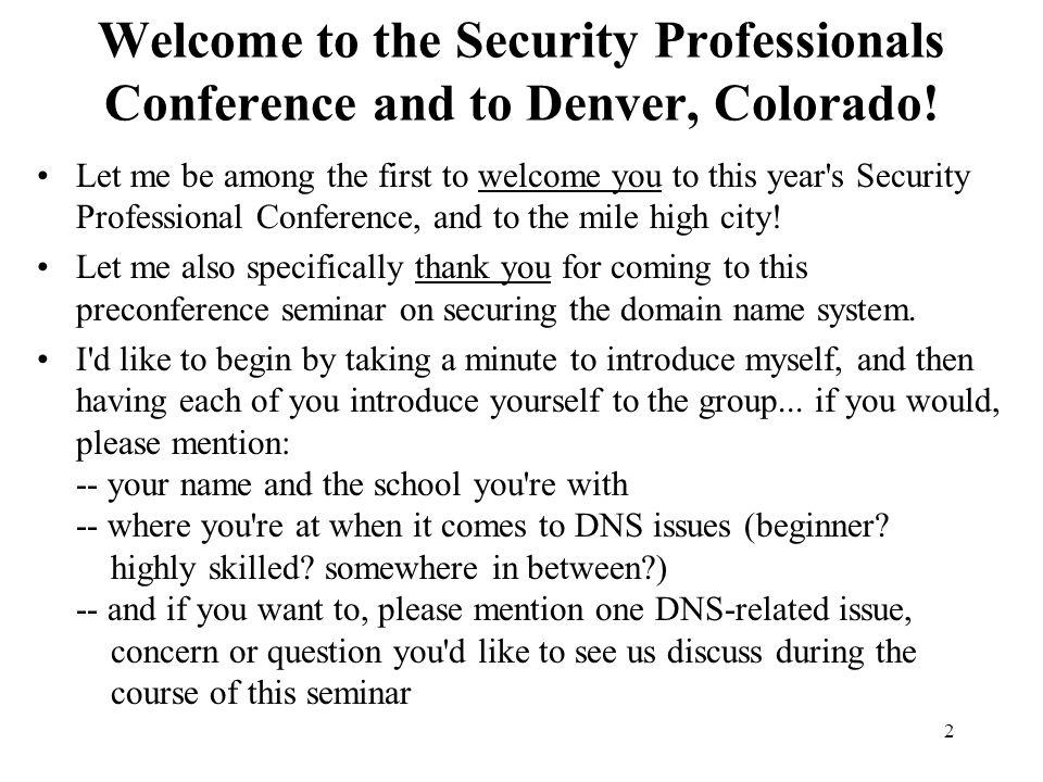 9. Some Miscellaneous DNS Topics