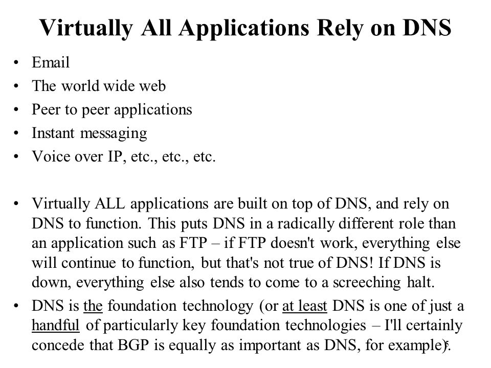76 DNS Tinkering Malware Is Driving an Architectural Change Among ISPs Confronted with malware that s targeting user DNS settings, providers are forced to think about scalable (network centric) ways to deal with those threats.