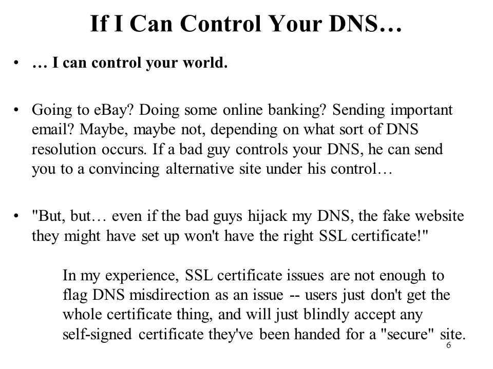 117 Another Issue: The DNSSEC Trust Model Talking about phishing makes me think about trust models.