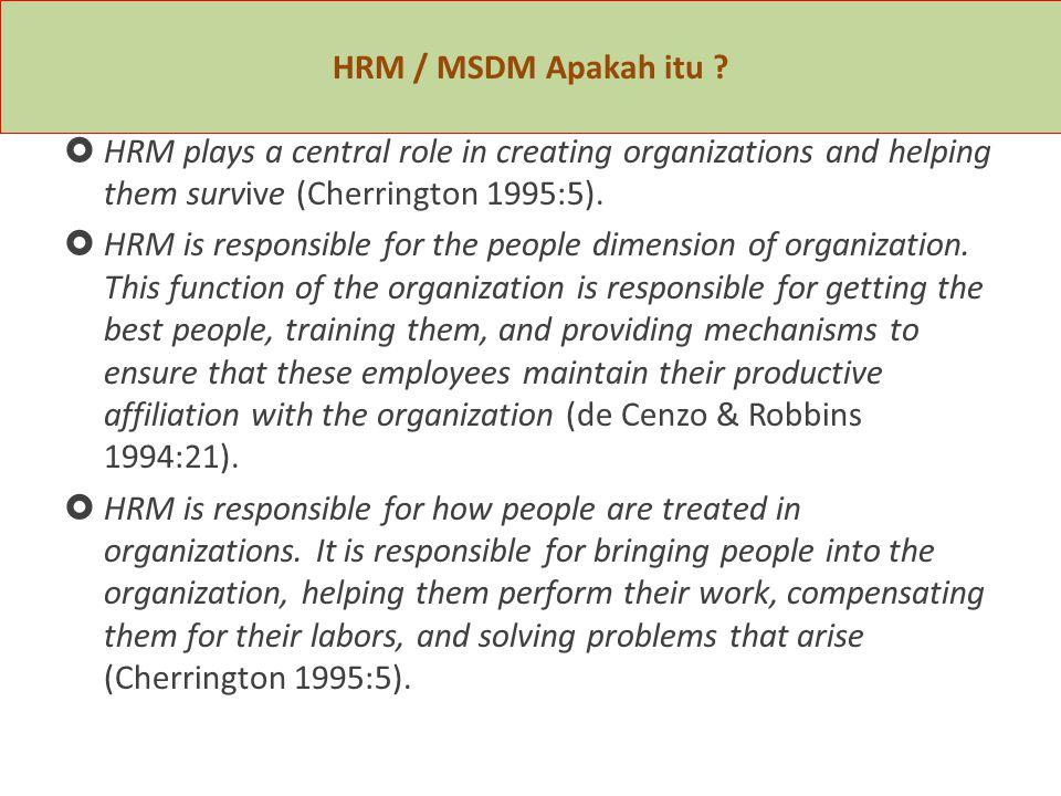HRM / MSDM Apakah itu .