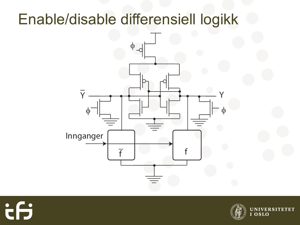 Enable/disable differensiell logikk