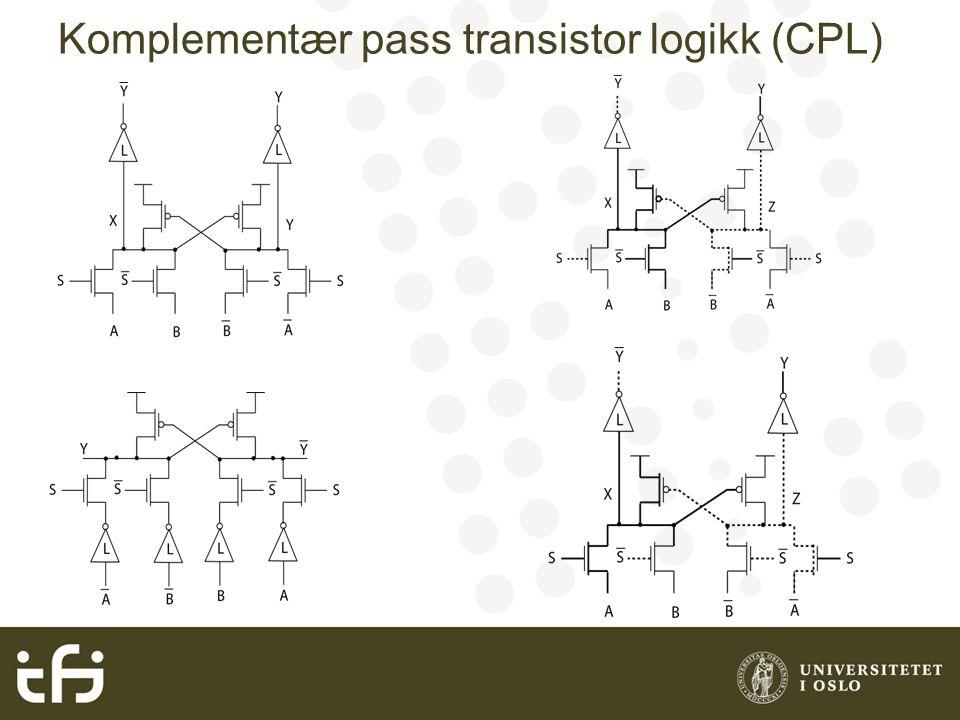 Komplementær pass transistor logikk (CPL)