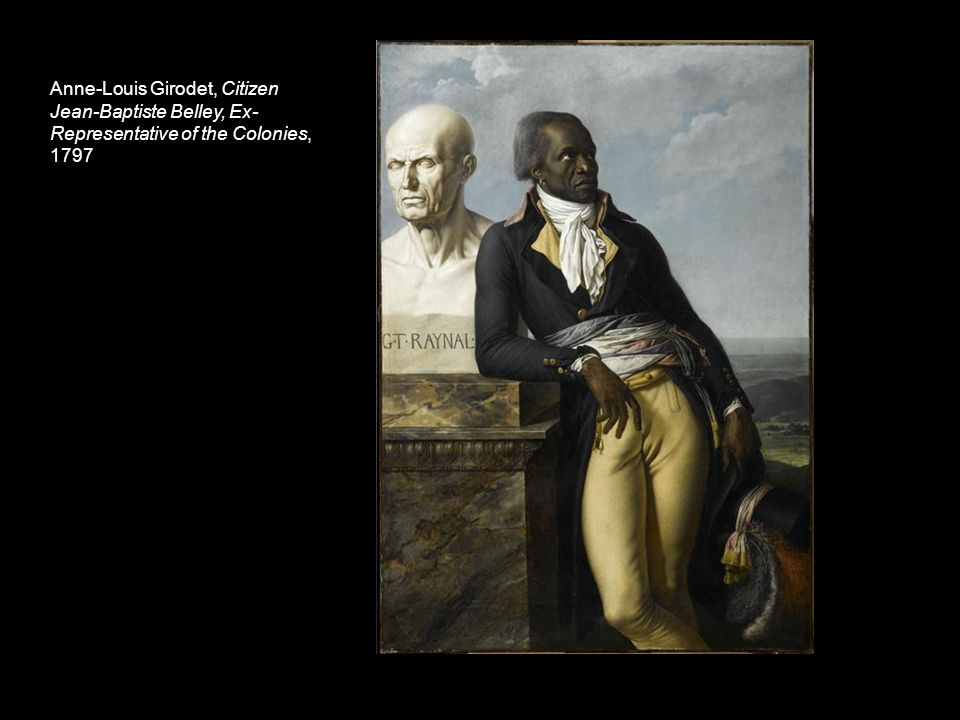 Anne-Louis Girodet, Citizen Jean-Baptiste Belley, Ex- Representative of the Colonies, 1797