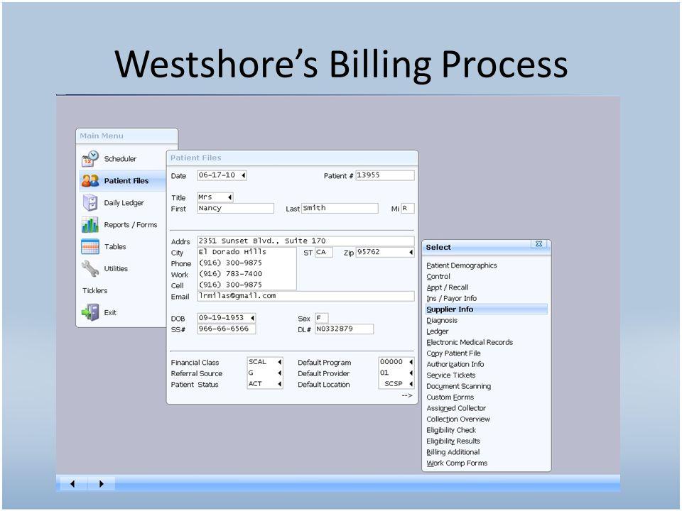 Westshore's Billing Process