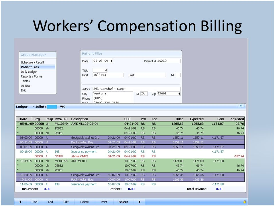 Workers' Compensation Billing