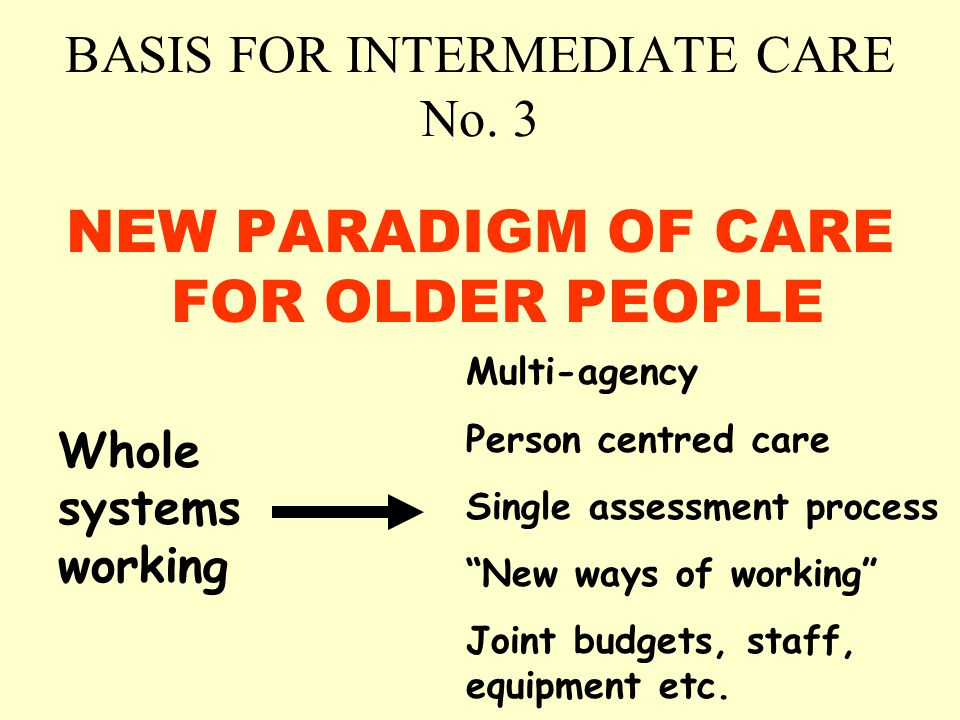 BASIS FOR INTERMEDIATE CARE No.