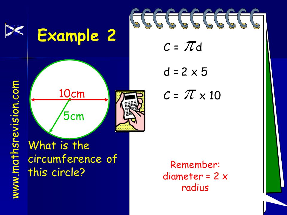 Example 1 6cm What is the circumference of this circle.
