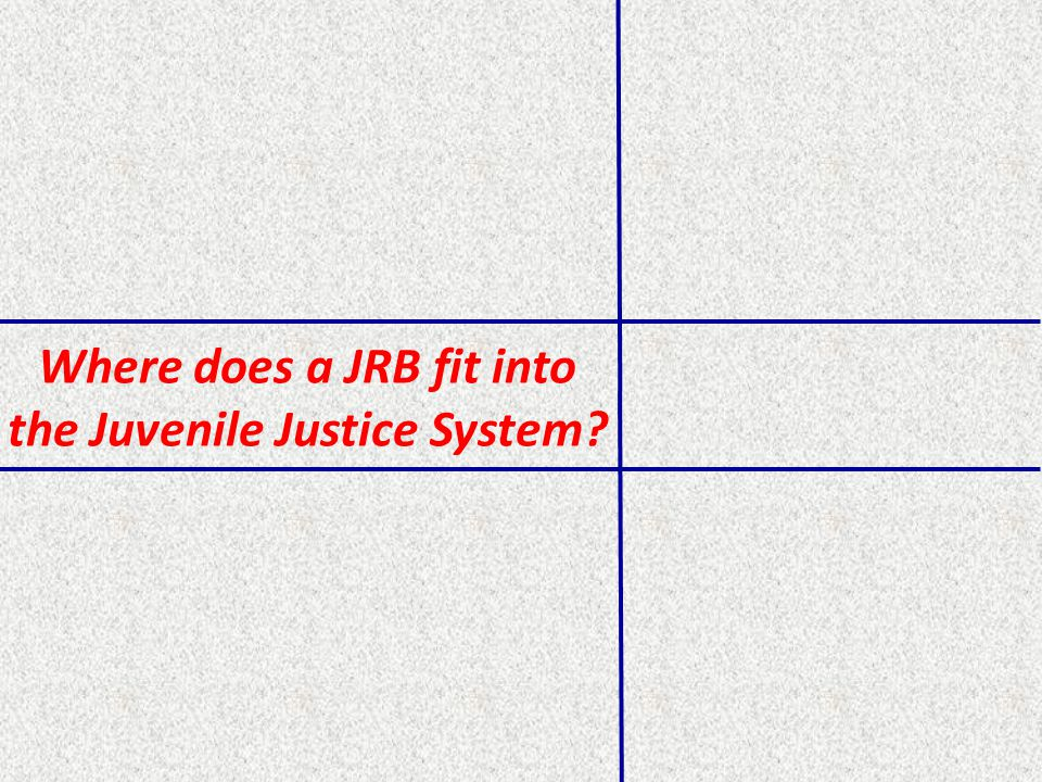 Where does a JRB fit into the Juvenile Justice System