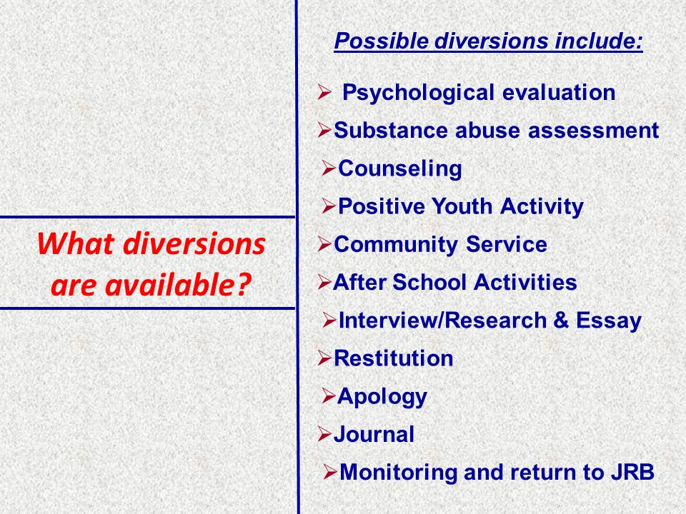 What diversions are available.
