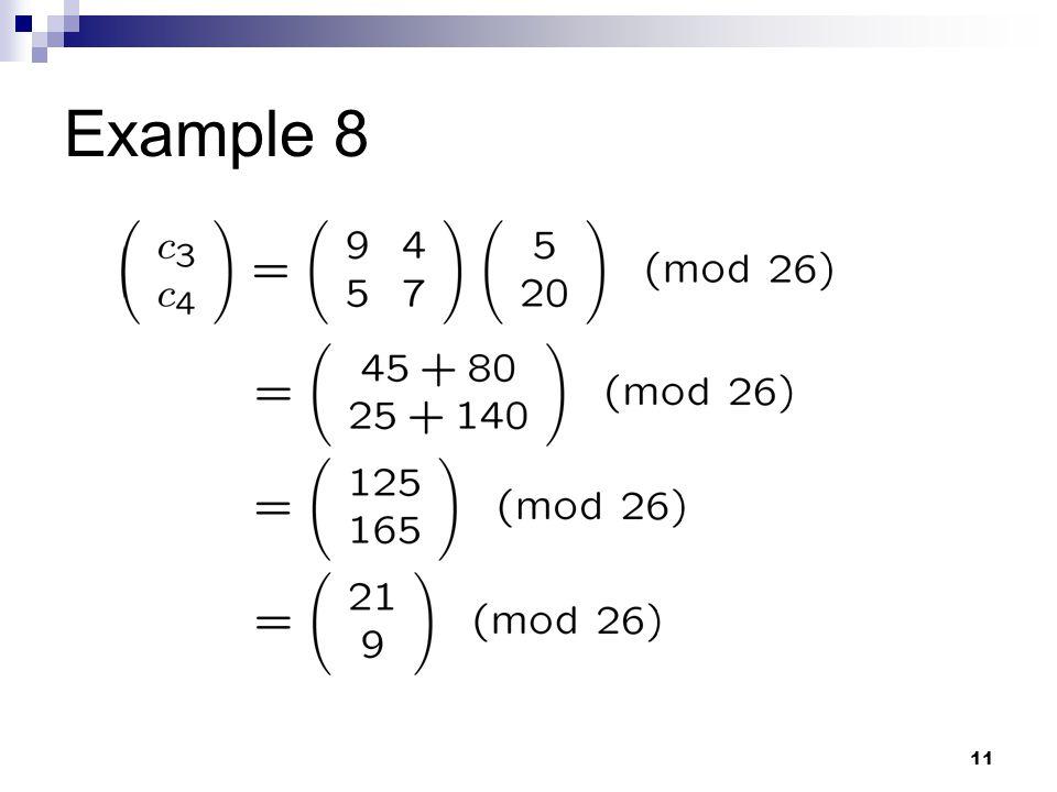 11 Example 8