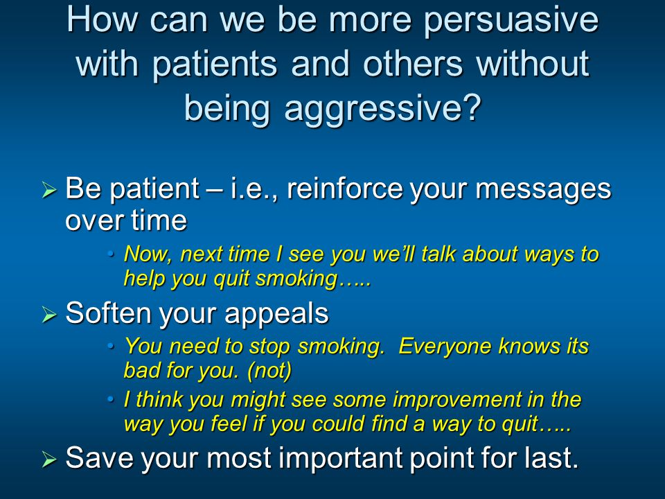 Assertiveness  What happens to people who are not assertive.