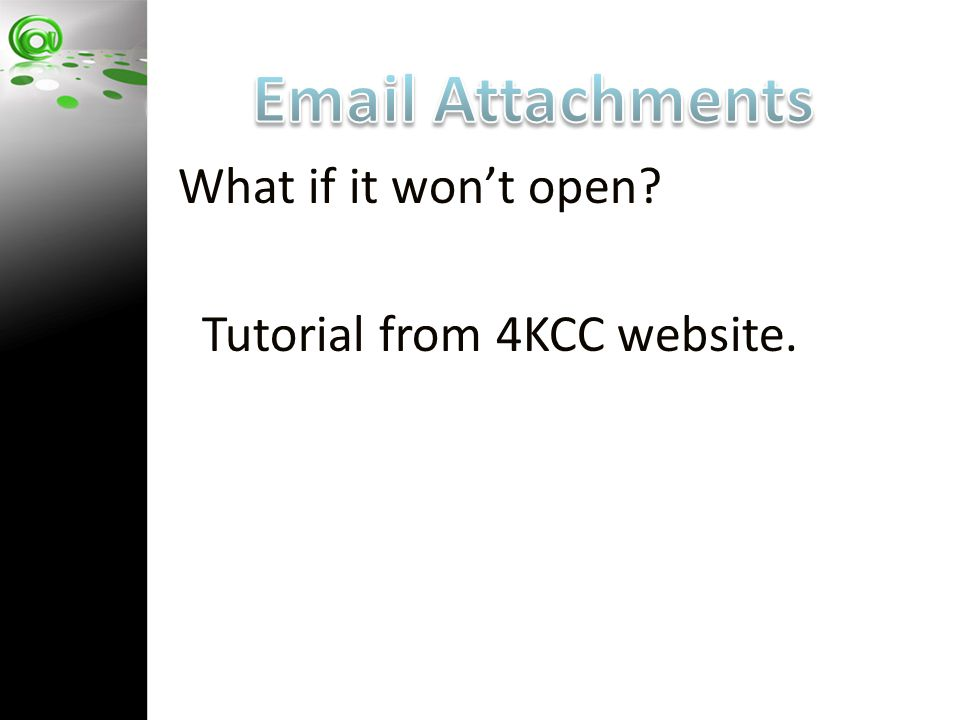 Tutorial from 4KCC website.