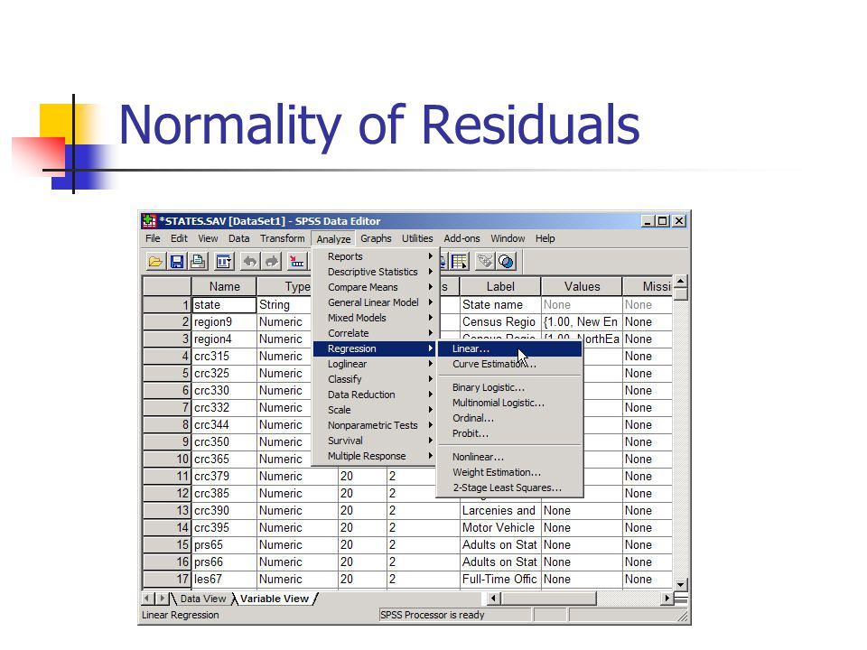 Normality of Residuals