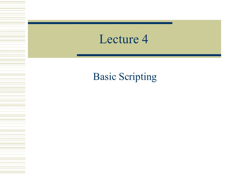 How to define scripts  Then choose scriptmaker  The following screen will appear: